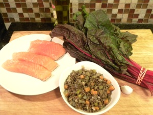 Salmon with Lentils Ingredients