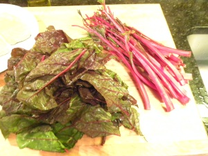 Swiss Chard prepped