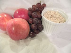 Roasted apple grape oatmeal