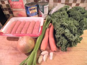 Minestrone ingredients